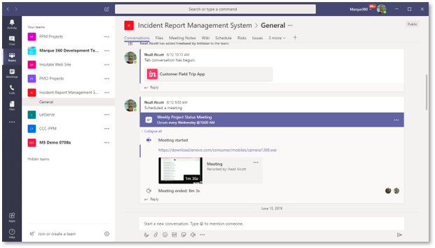 Project Online To Microsoft Teams Marque360